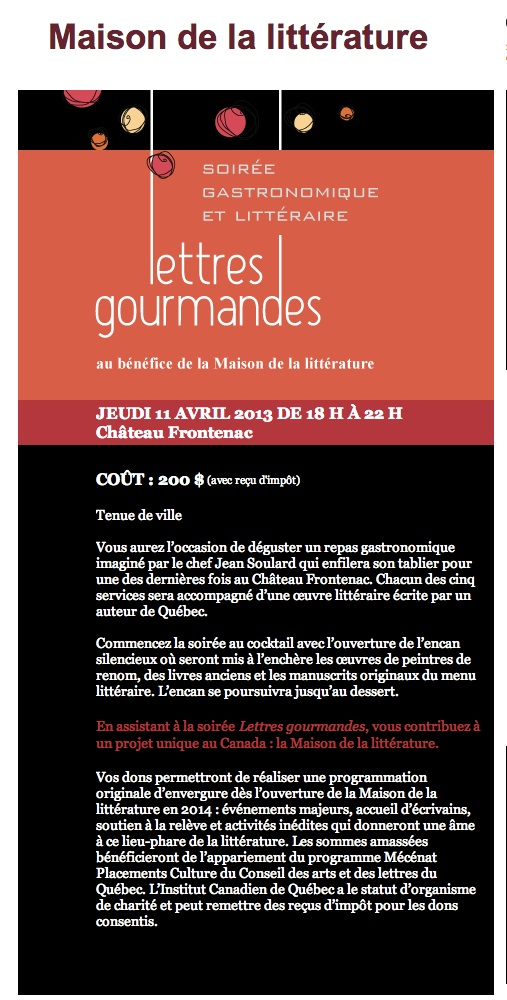 lettres gourmandes